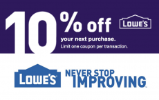 ONE (1X) 10% Off Printable Coupon