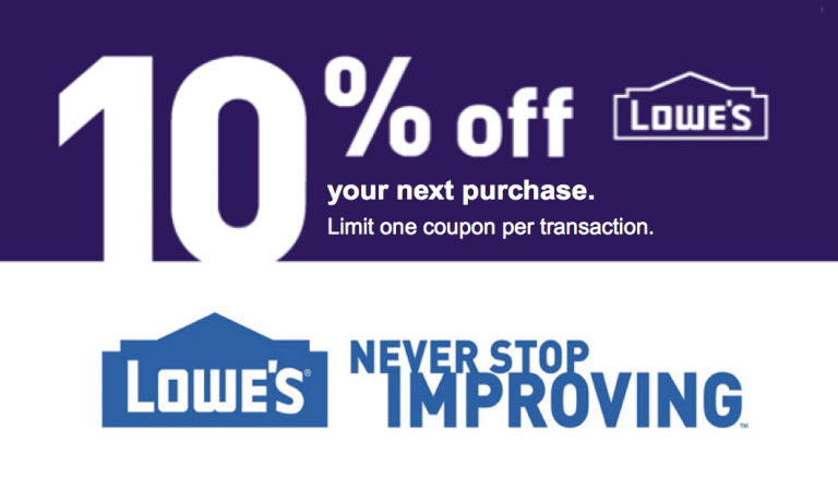 Lowes 10% OFF Printable Coupon Delivered Instantly to your ...