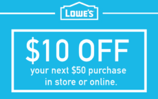 THREE (3X) $10 Off $50 Printable Coupons