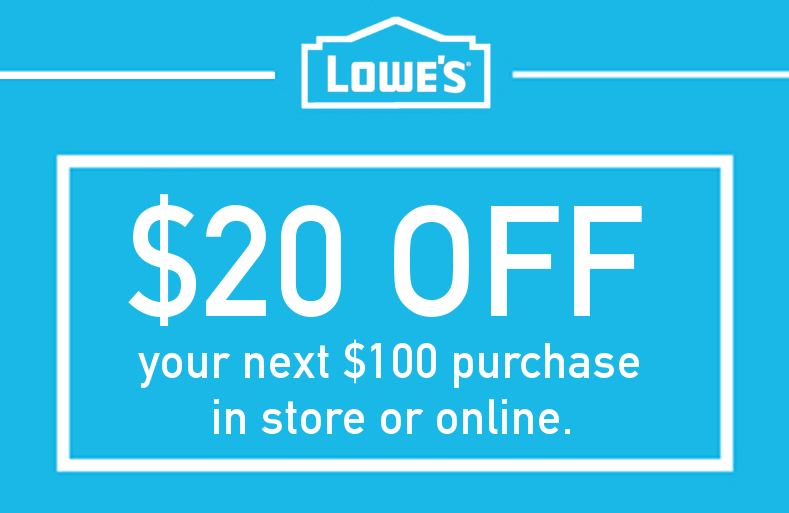 Lowes $20 OFF $100 Printable Coupon Delivered Instantly to your Inbox | Quik Coupons