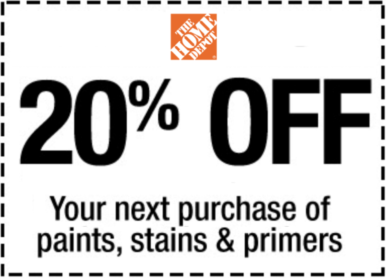 Home Depot Paint Coupons Printable: Home Depot 20% Off Paints Coupon Delivered Instantly To