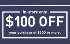 ONE (1X) $100 Off $600 Printable Coupon